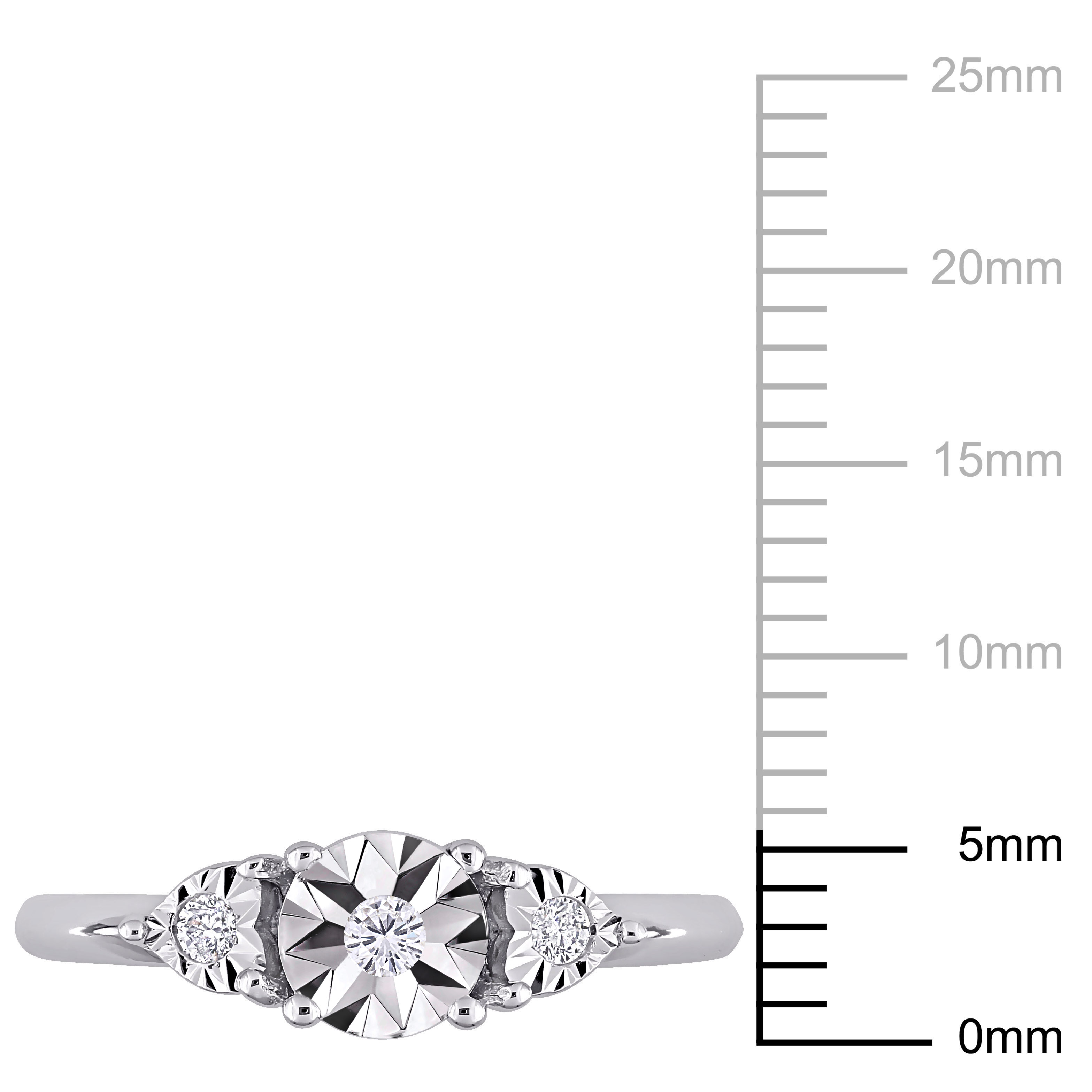 Amour-Sterling-Silver-Diamond-3-Stone-Engagement-Ring thumbnail 4